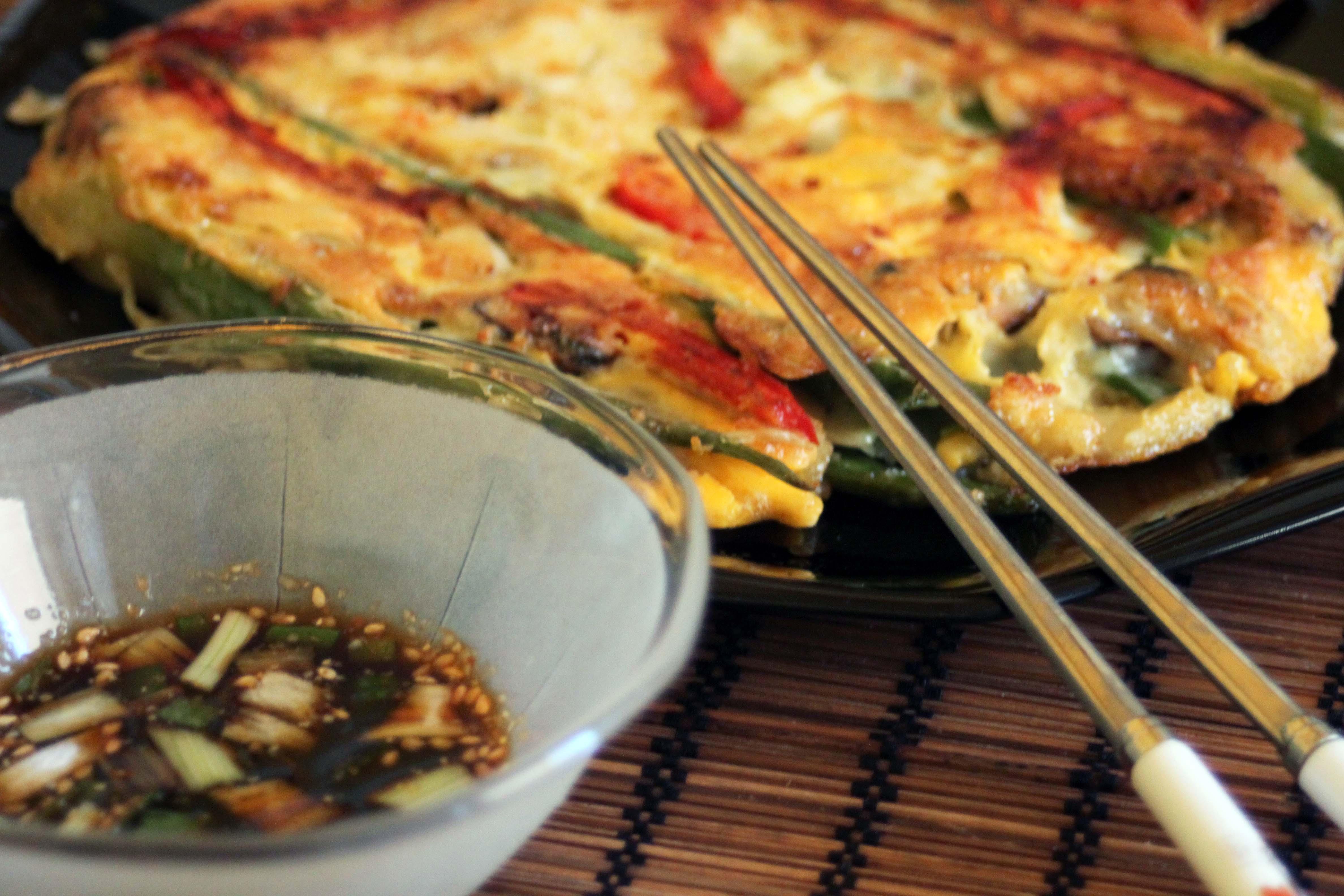 Cuisine cor enne la galette aux l gumes kimshii for Cuisine coreenne