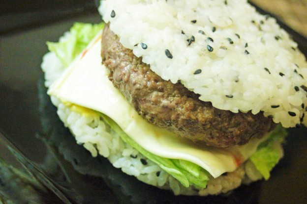 recette du rice burger hamburger de riz kimshii. Black Bedroom Furniture Sets. Home Design Ideas